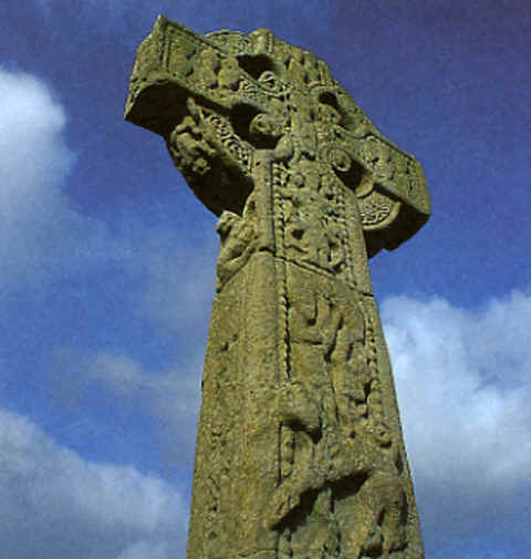 Photo: of a Tenth Century Celtic High Cross at Drumcliffe Cemetery, County Sligo, Ireland.  Photo Copyright Richard Cummins.