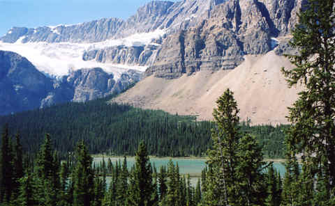 Photo: Crowsfoot Glacier, Alberta, Canadian Rockies.  Photo Copyright 2006 S.G.P.  All Rights Reserved.