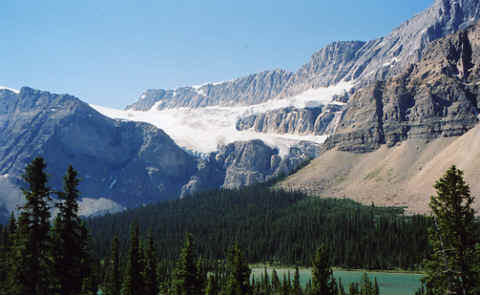 Photo: Crowfoot Glacier No.2, Canadian Rockies.  Photo Copyright 2006 S.G.P.  All Rights Reserved.
