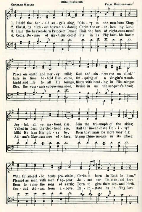 The Herold christian hymns hark the herald sing by charles