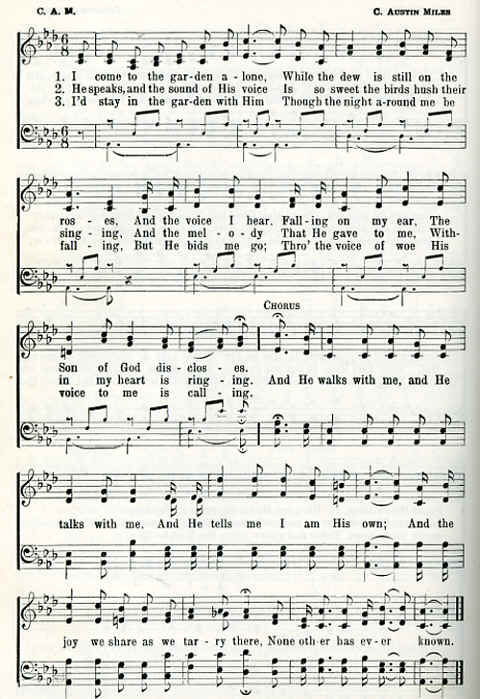 Classic Christian Hymns In the Garden The Prayer Foundation