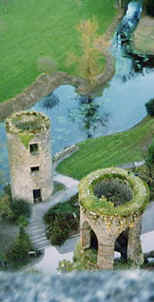 Photo: View looking down from the top of Blarney Castle, Ireland.  Copyright 1999 S.G.P.  All Rights Reserved.