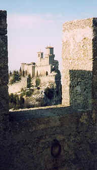 Photo: Castle Fortress, San Marino, Italian Peninsula. Photo Copyright 1998 S.G. P.  All Rights Reserved.