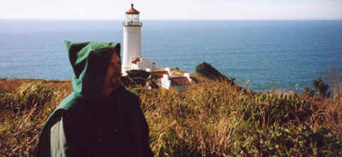 Phioto: Monk Preston, Lighthouse, and the Pacific Ocean.