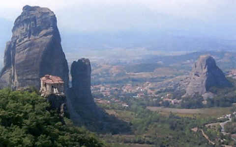 Photo: of Rousanou Monastery, Meteora, Greece.