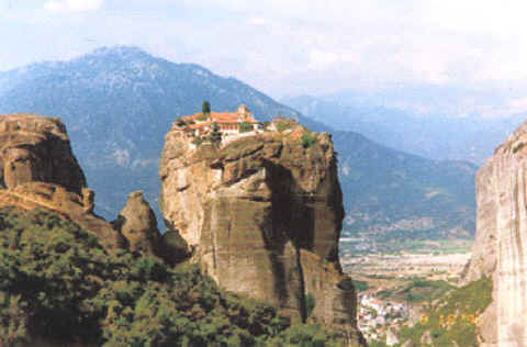 Photo: Monastery in Meteora, Greece.