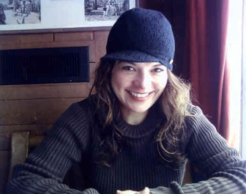 Photo: Monk Linda after skiing; Timberline Lodge, Mt. Hood, Oregon.  Copyright 2008 S.G.P.  All Rights Reserved.