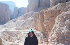 Photo: Monk Preston in the Valley of the Kings, Egypt.  Copyright 2003 S.G.P.  All Rights Reserved.