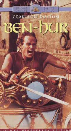 "Image: Front Cover of the Video, ""Ben-Hur."""