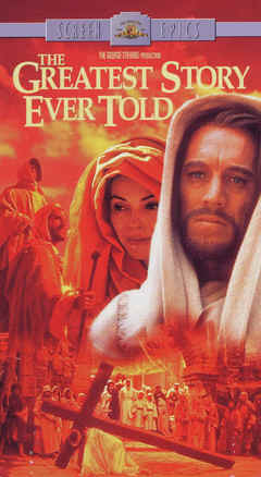 "Image: Front Cover of the Video of the film, ""The Greatest Story Ever Told."""