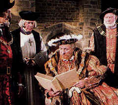"Photo: Henry VIII in the movie, ""God's Outlaw."""
