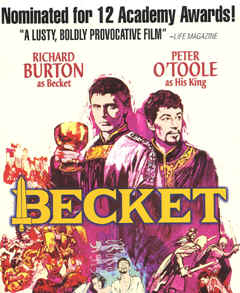 "Image: Front Cover of the Video, ""Becket."""