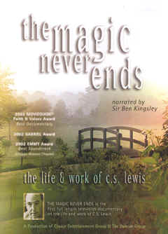 "Image: Front Cover of the DVD, ""The Magic Never Ends: The Life and Work of C. S. Lewis."""