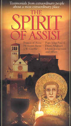 "Image: Front Cover of the Video, ""The Spirit of Assisi""."