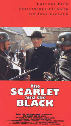 "Image: front cover of the film, ""The Scarlet and the Black"" starring Gregory Peck."