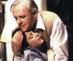 Image: C.S. Lewis (Anthony Hopkins) learns Joy is dying from Cancer.