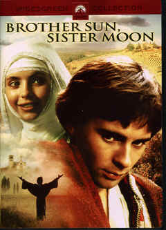 "Image: Front Cover of the DVD, ""Brother Sun, Sister Moon"", a Franco Zeffirelli Film on the early life of St. Francis of Assissi."
