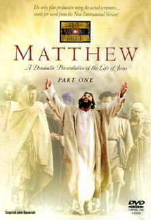 "Image: Front Cover of the DVD, "" The Visual Bible: Matthew"" New International Version."
