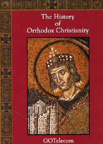 "Image: Front cover of the DVD, ""History of Orthodox Christianity""."