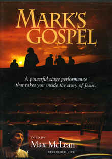 "Image: Front cover of the DVD, ""Mark's Gospel Told by Max McLean""."