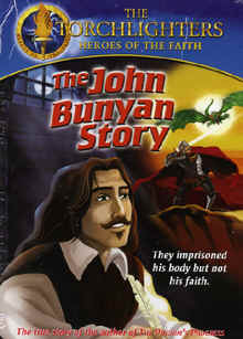 "Image: Front cover of the Torchlighters Heroes of the Faith DVD, ""The John Bunyan Story""."