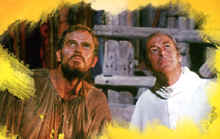 "Image: Charlton Heston and Rex Harrison in the film, ""The Agony and the Ecstasy""."