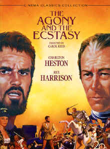 "Image: Front cover of the DVD, ""The Agony and the Ecstasy"" starring Charlton Heston and Rex Harrison."