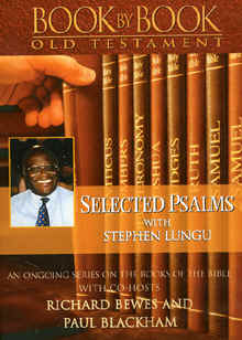 "Image: of the front cover of the DVD, ""Book by Book"" Old Testament: ""Selected Psalms"" with Stephen Lugu."