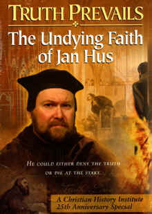 "Image: front cover of the DVD, ""Truth Prevails"" The Undying faith of Jan Hus."" (Moravians)."