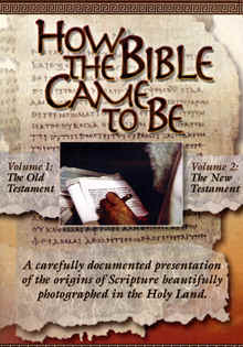 "Image: Front cover of the DVD, ""How the Bible Came to Be""."