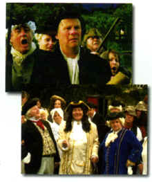 "Photo: Scenes from the back of the DVD, ""Encounters With John Wesley""."