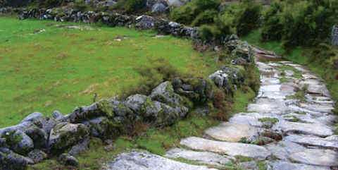 Photo: of a portion of an ancient Roman road in Portugal (Caramulinho).
